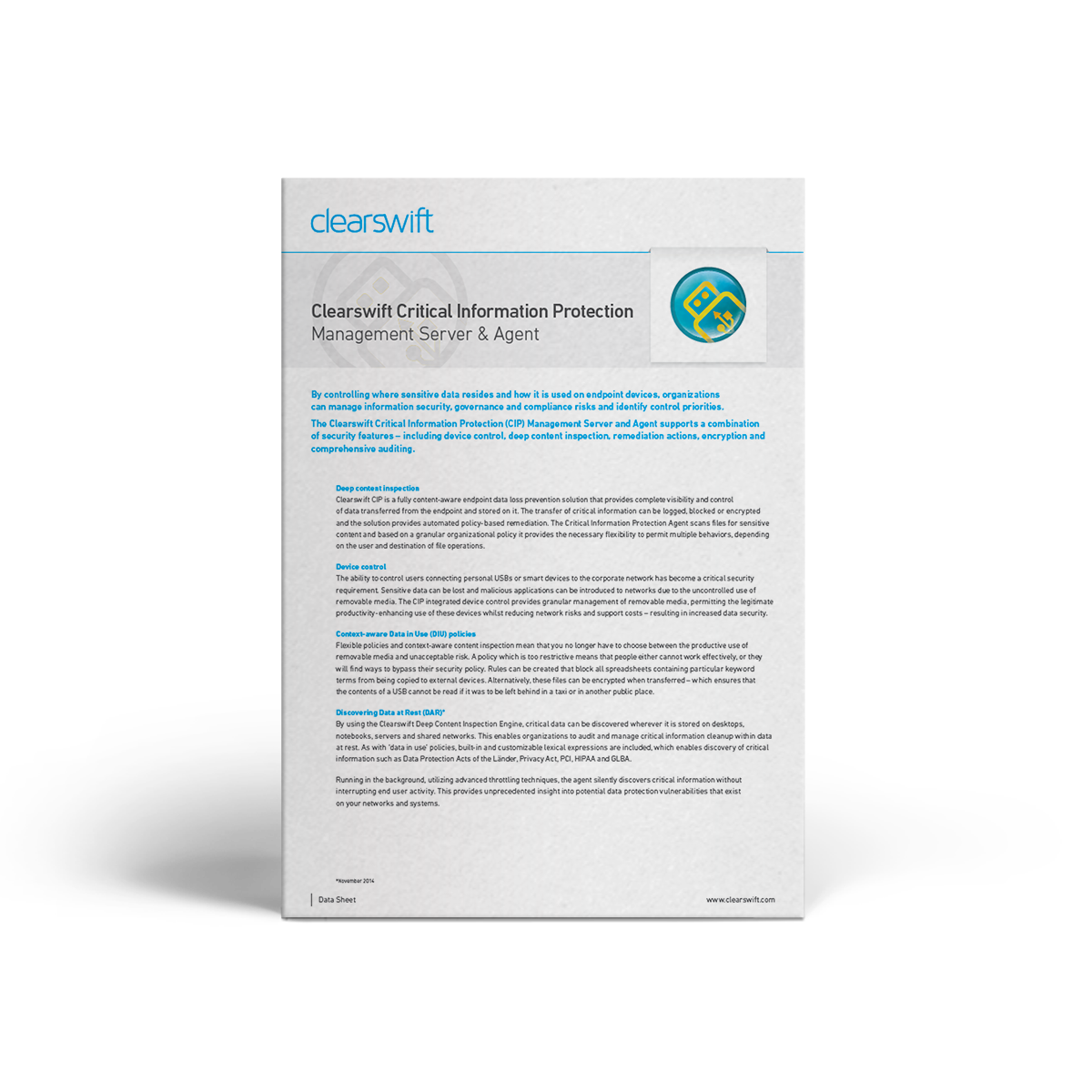 Clearswift CIP datasheet
